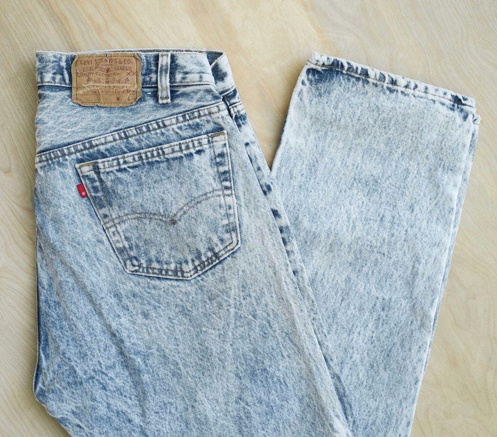 4d8dea8248a Vintage 80s Levis 501 0109 USA Made Acid Wash Jeans Denim Measured 34x33  #vintage #levis