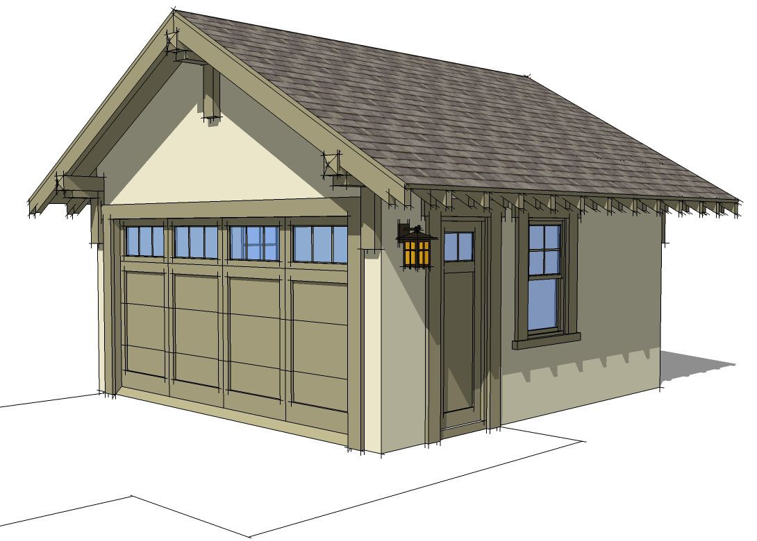 Plan 44080TD Craftsman Style Detached Garage Plan