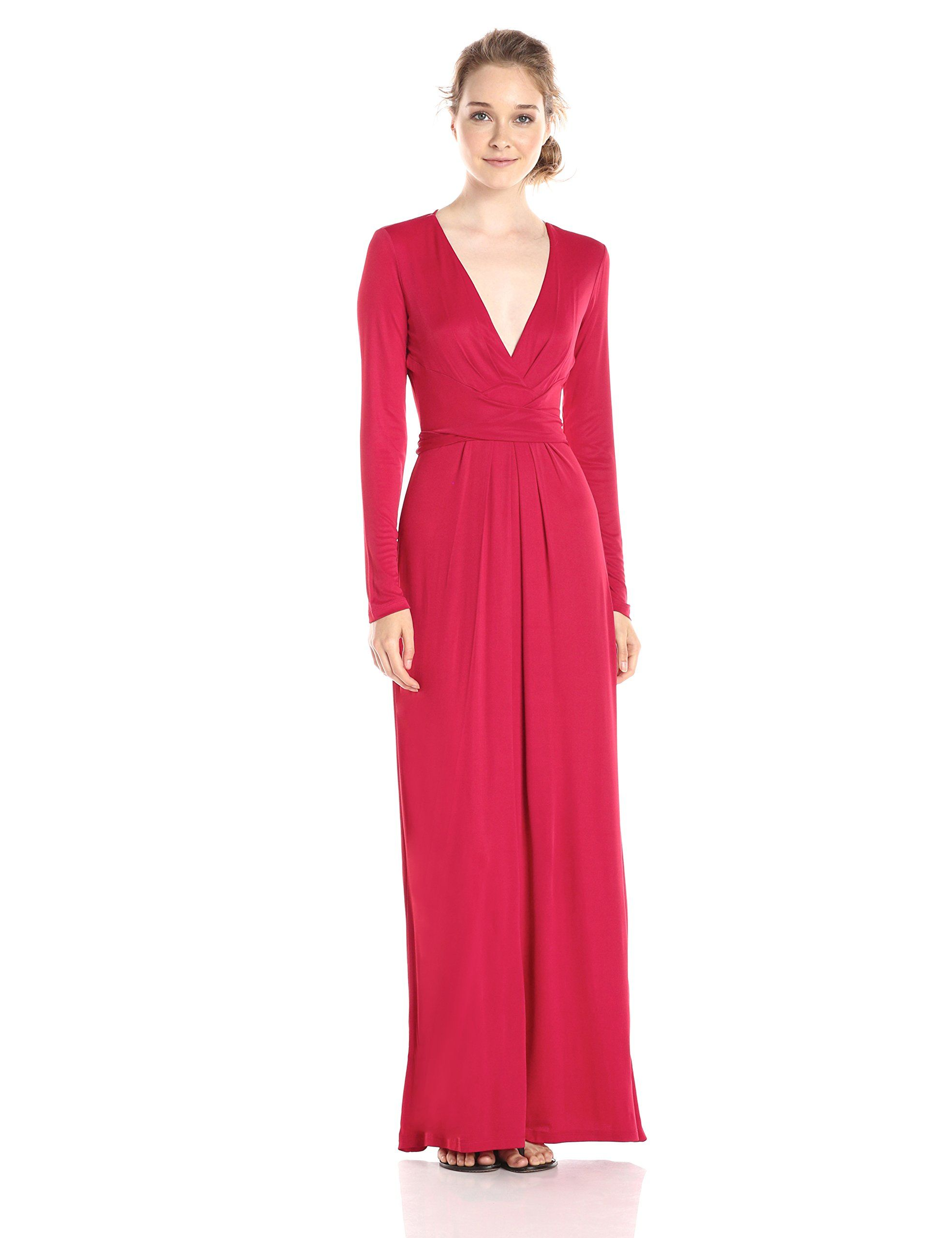 Bcbgmax azria womenus pearl wrap maxi dress new red small pullon