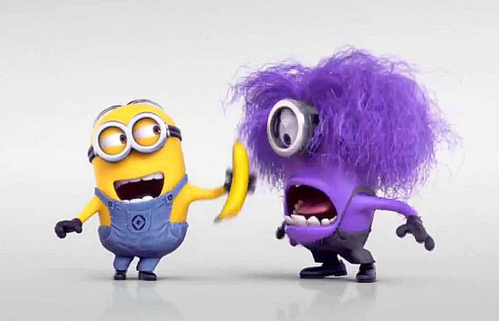 Despicable Me Minions Wallpaper Funny Banana Blue Cute Funny Laughing Minions Purple
