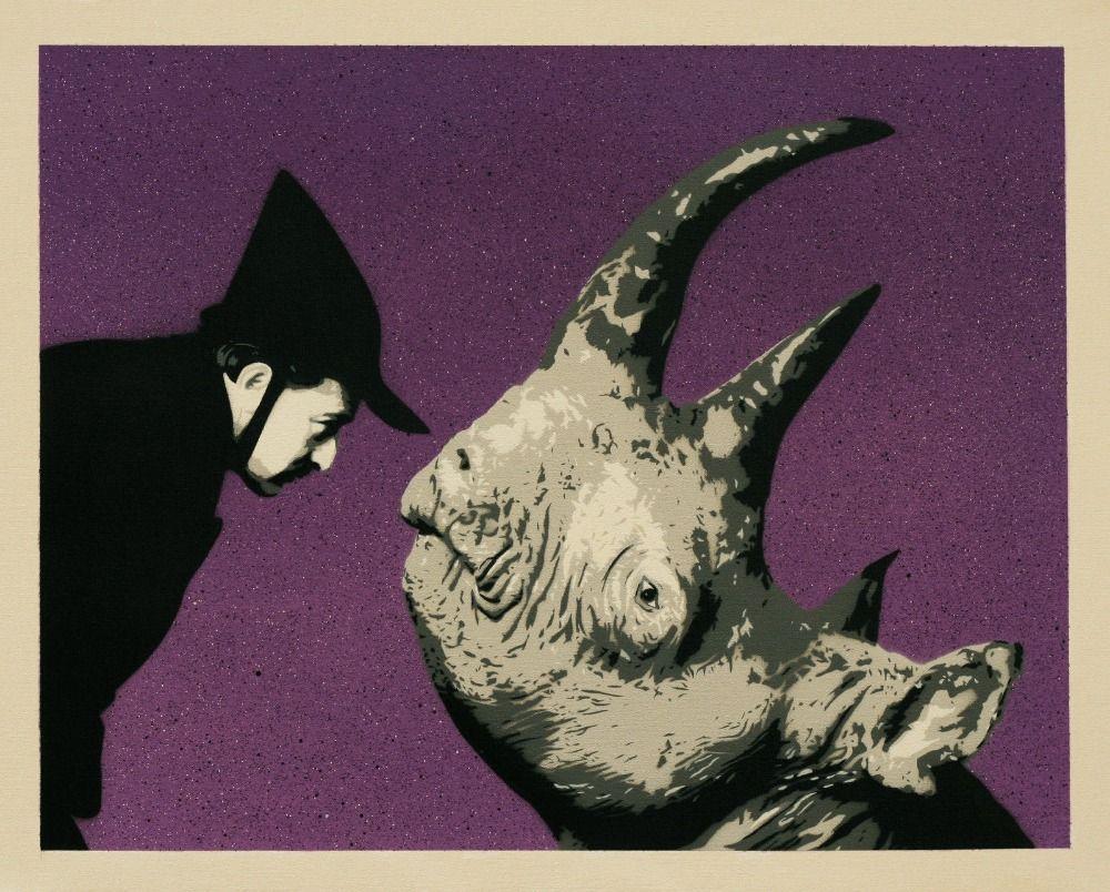 Original Gemälde Salvador Dali/rhino In Malerei U0026 Kalligraphie Von Haus U0026  Garten Auf Aliexpress