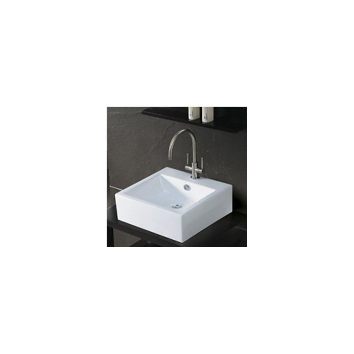 Vertical Ceramic Rectangular Undermount Bathroom Sink With