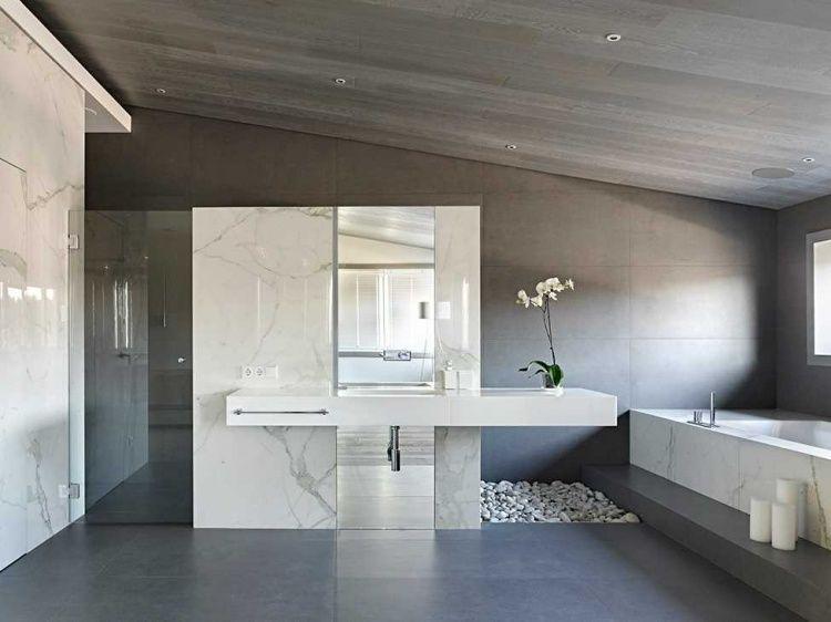 meuble salle de bain marbre design