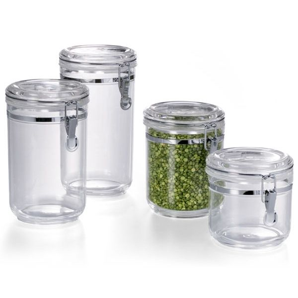 Hermetic Acrylic Canisters. Food Storage ContainersBathroom ...