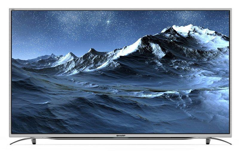 tv led sharp lc 55cuf8372es 4k uhd televiseur pas cher conforama peinture paysage et led