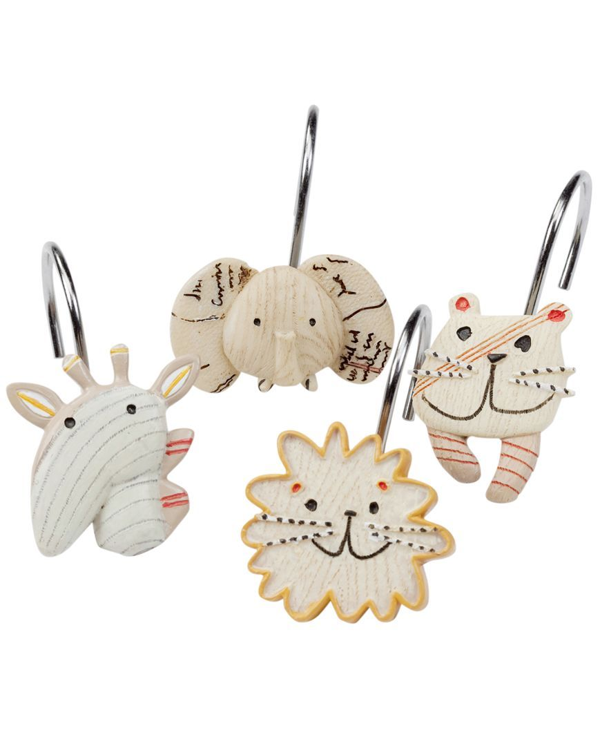 Creative Bath Accessories Animal Crackers Shower Curtain Hooks