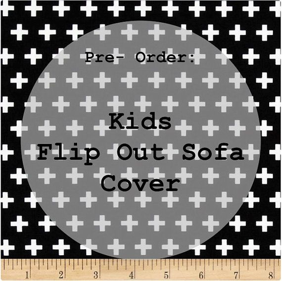 Cheap Sectional Sofas Pre Order Kids Flip Out Sofa Cover Black with White swiss cross
