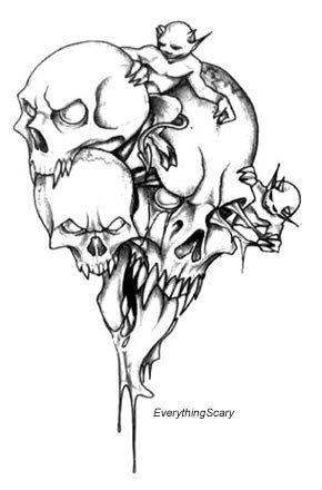 Monster Demon Skull With Images Evil Skull Tattoo Monster Tattoo
