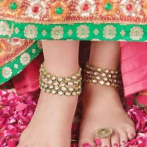 Gorgeous Border, Anklets (Payal which make a soft, melodious