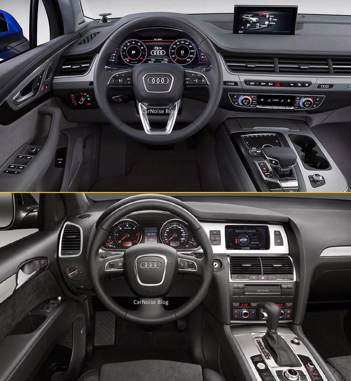 Interior Dashboard View: 2015-2016 Audi 1st Gen Q7 Vs 2nd