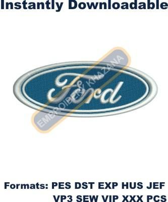 Ford Car Logo Instant Embroidery Design Embroidery Designs Car Logos Ford Logo