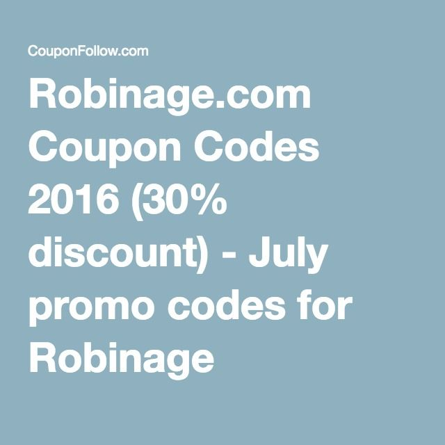 Robinage coupon codes 2016 30 discount july promo codes robinage coupon codes 2016 30 discount july promo codes for fandeluxe Gallery