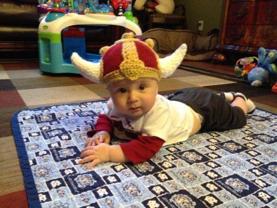 Crochet Baby Viking Hat Pattern 499 Via Etsy Knit It