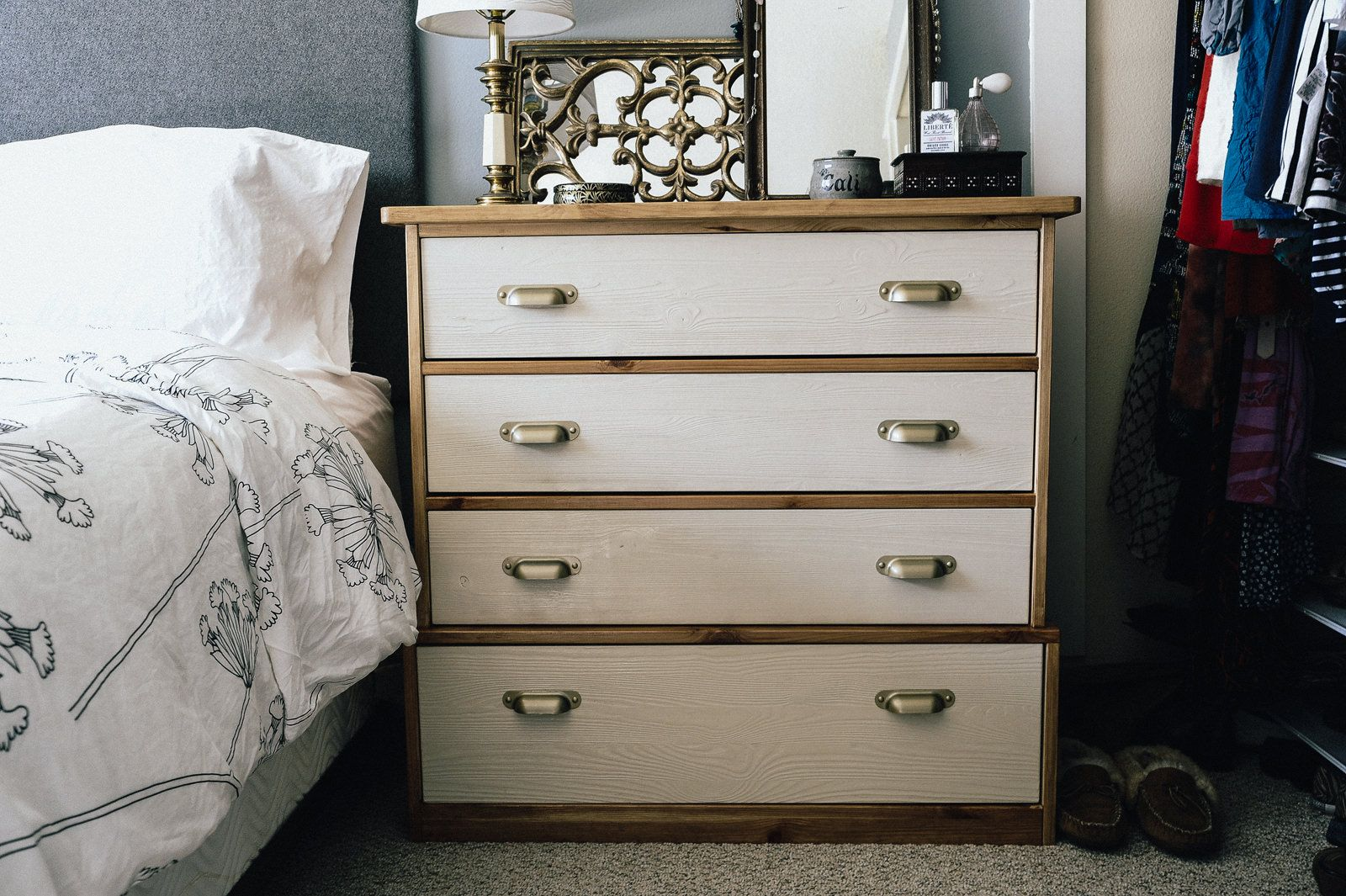 diy ikea hack dresser. use stain and spray paint to change the look of your furniture with this diy ikea · ikea dresser hackdresser diy hack