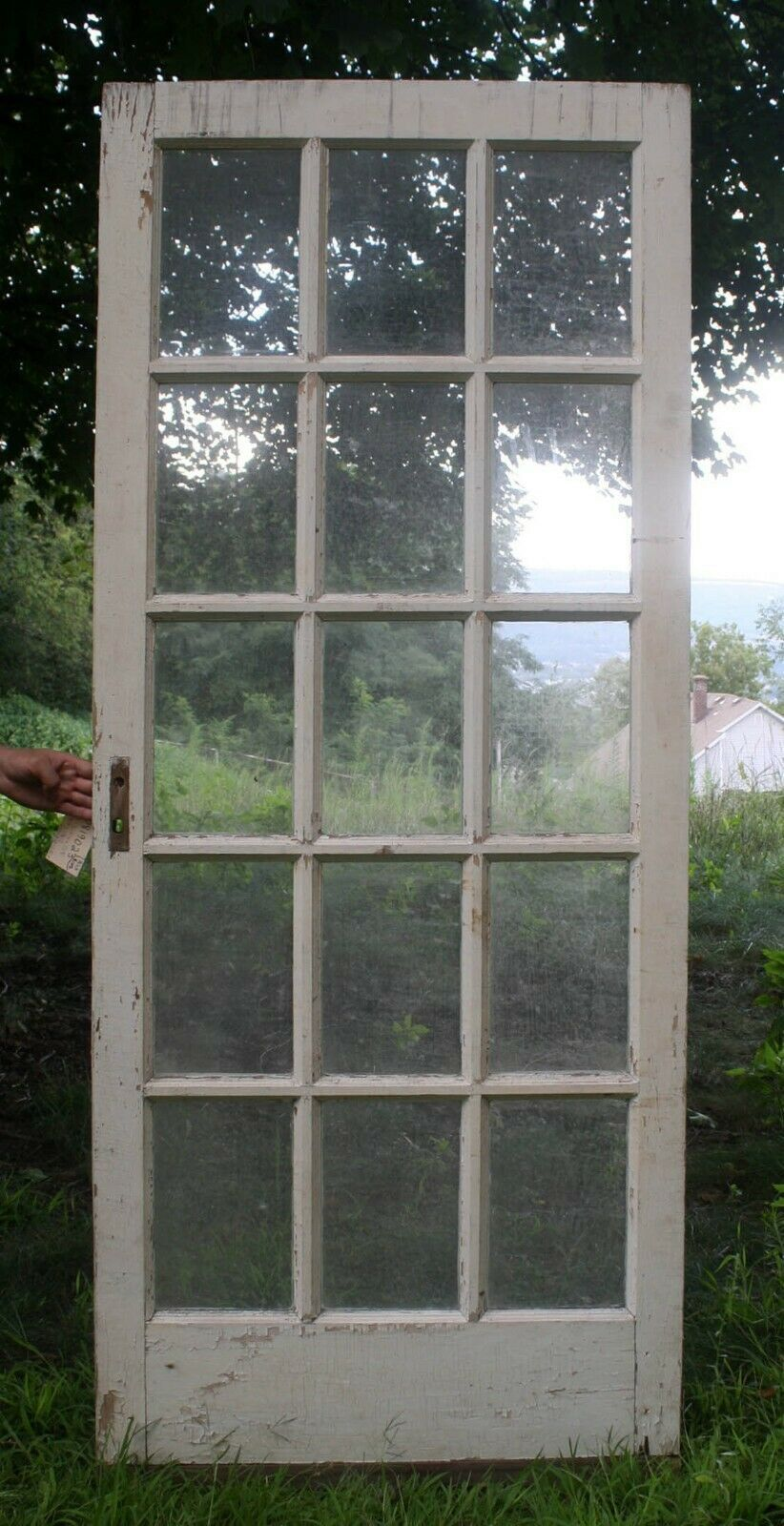 32 X77 Vintage Antique Solid Wood Wooden French Door 15 Window Glass Lite Pane French Doors Vintage French Doors Wooden French Doors