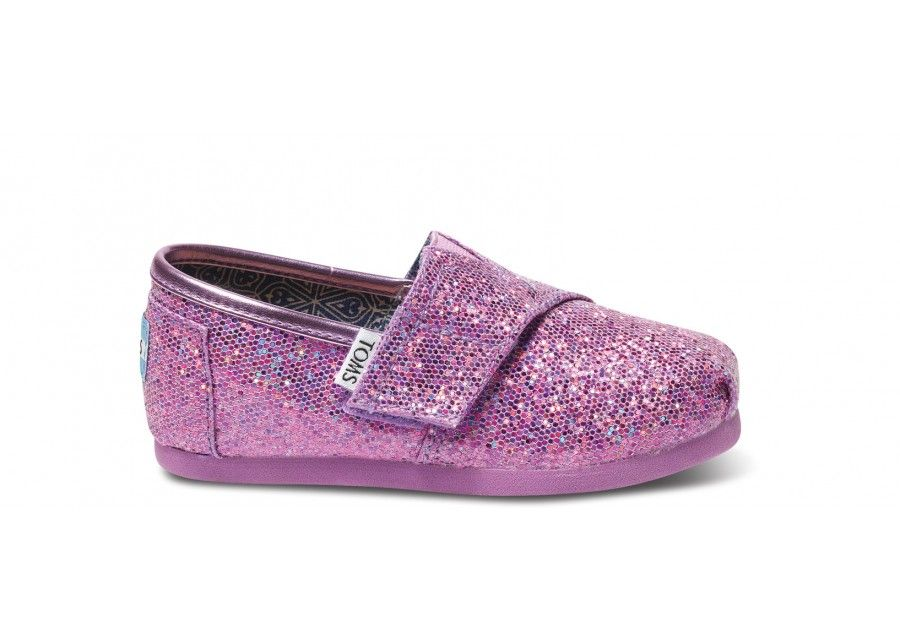 Lilac Tiny TOMS Glitters. Possibly the cutest little things.