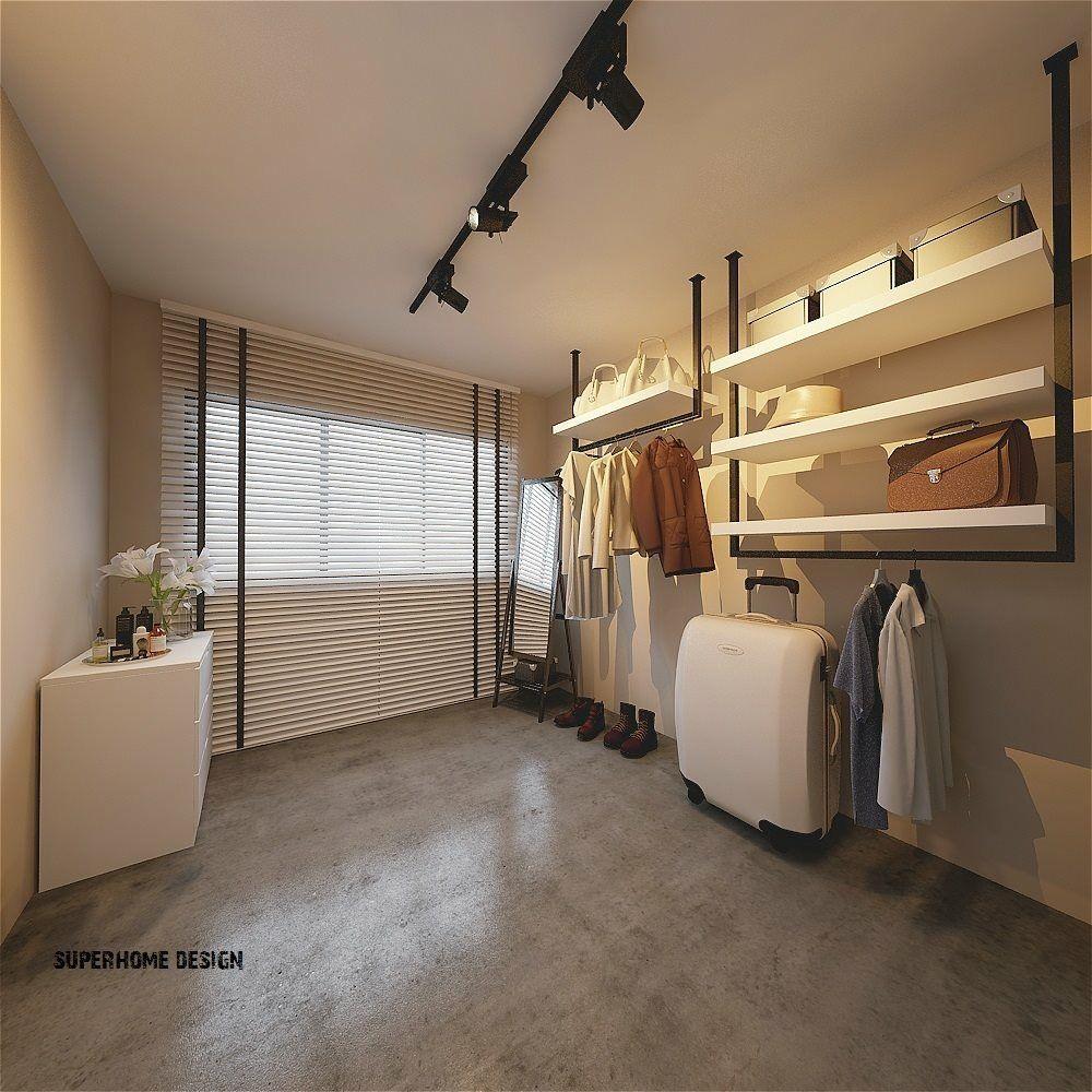 Master bedroom hdb  walk in wardrobe from Superhome Designs HDB Singapore walk in