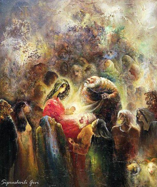 Гиви Сипрошвили. Рождество Христово. 60х50 холст масло