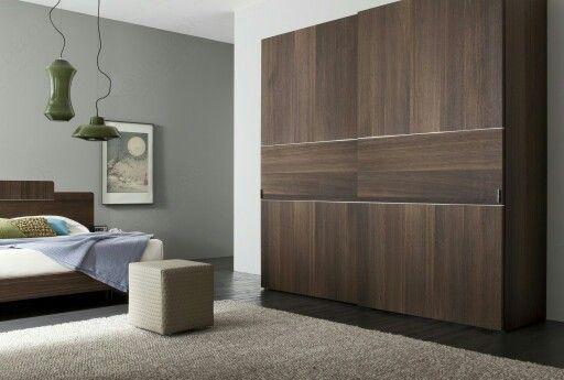 home decor sliding wardrobe world luxury lighting   Nice colour combination. Darkwood wardrobe with grey wall ...