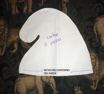 Manualidades ~ Gaudy Cubero  GORRO DE LOS PITUFOS. Disfraz Pitufina b89aa76c994