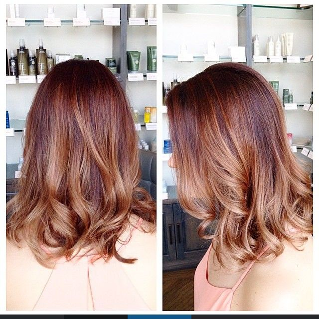 subtle ombre on copper hair :: RedBloom Salon
