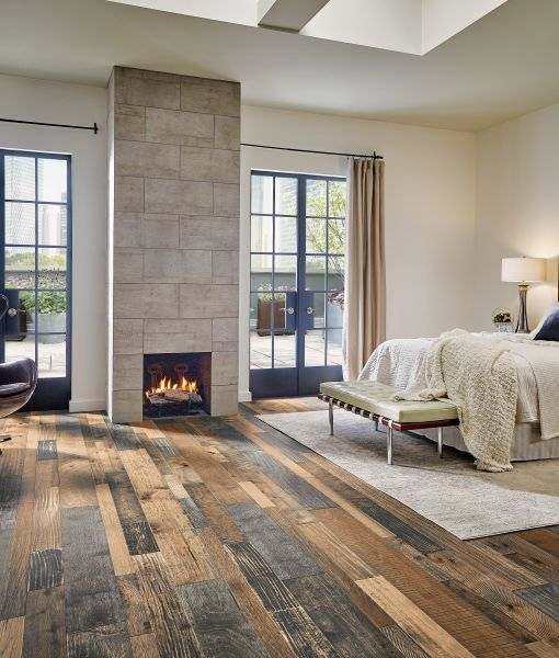 Gorgeous, Rustic Hardwood Floors in a Large Master Bedroom ...