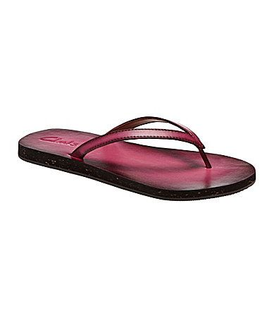 clarks salon spirit flip flops black