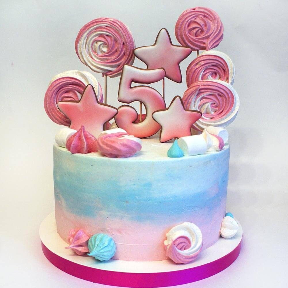 Детский торт на 5 лет. Торт ребенку на пять лет ...