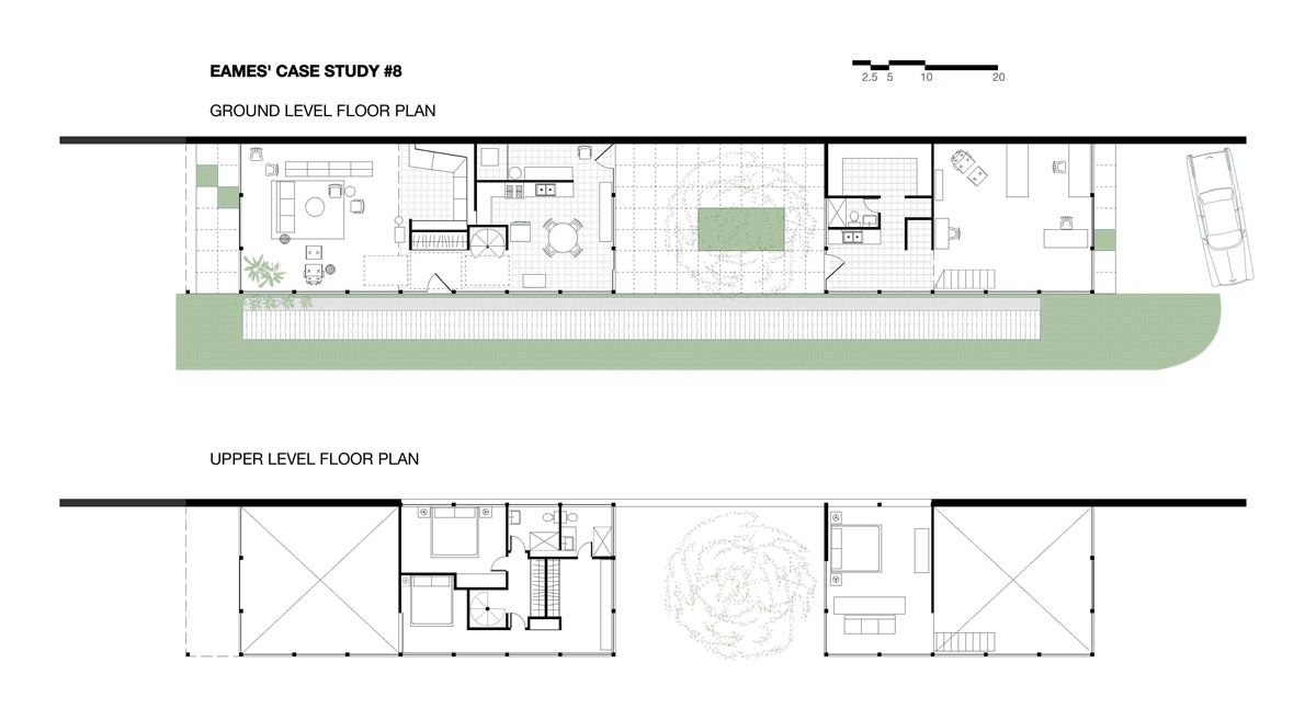 The eames house case study house no 8 architects for Case study houses floor plans