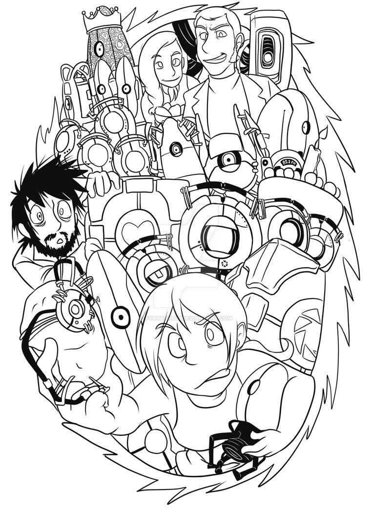 Portal Coloring Pages