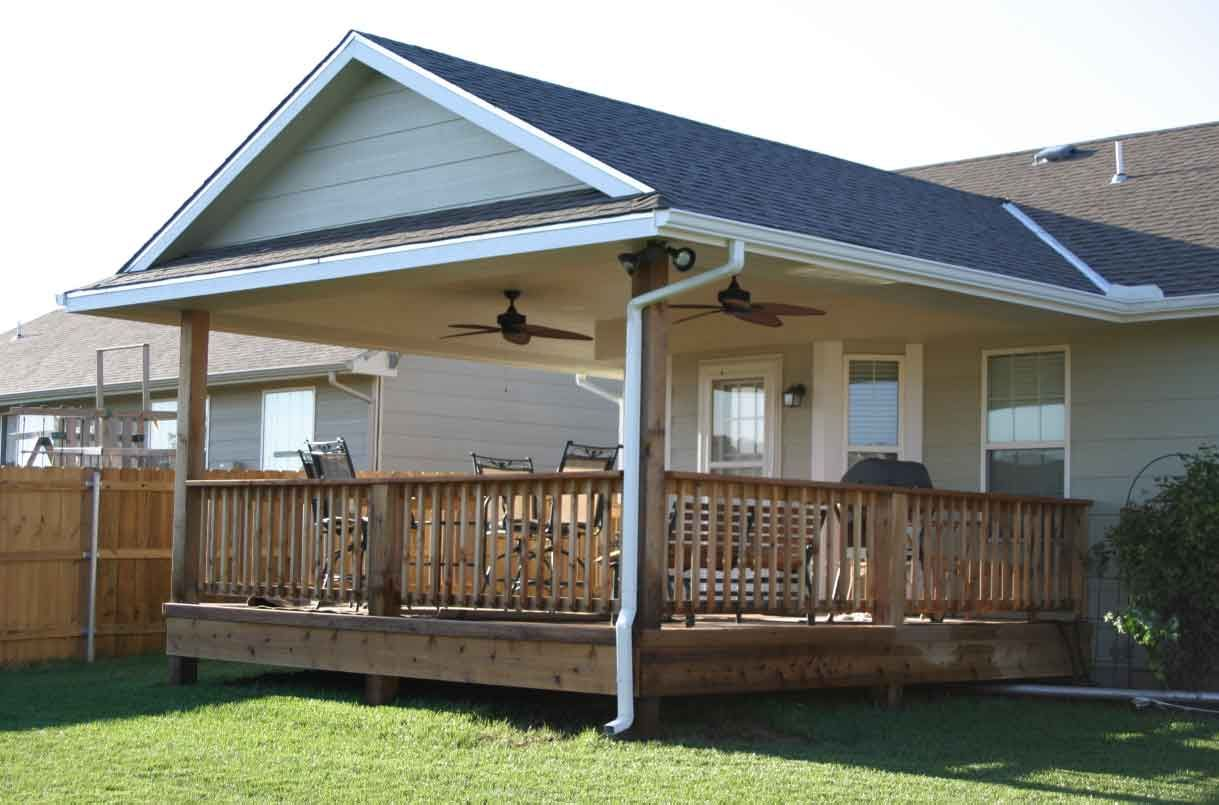 Want to add a covered back porch to our house next year for Ideas for covered back porch on single story ranch