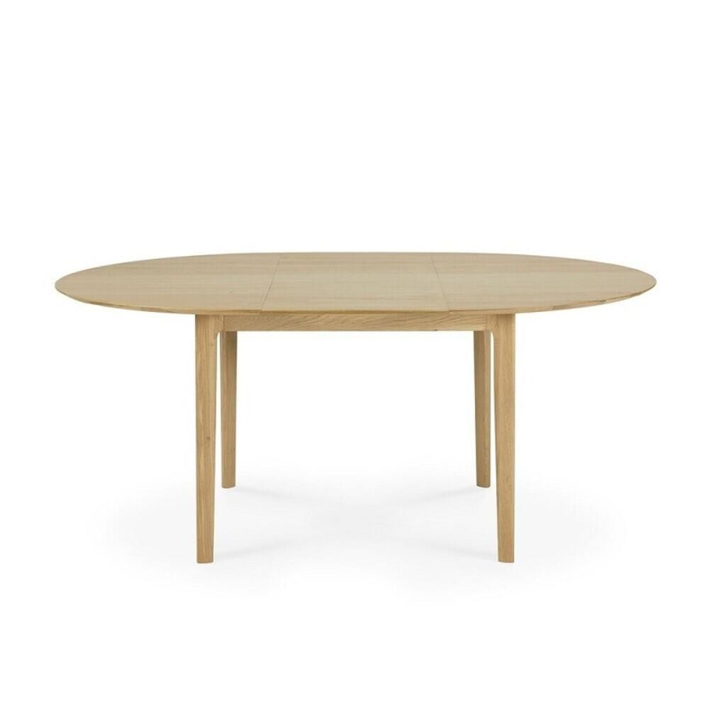 Oak Bok Round Extendable Dining Table - (Shipping Late December 2021)