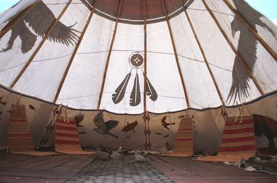 Great Paintings On This Tipi Beautiful Print