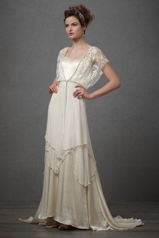 A very edwardian tea-gownish wedding dress