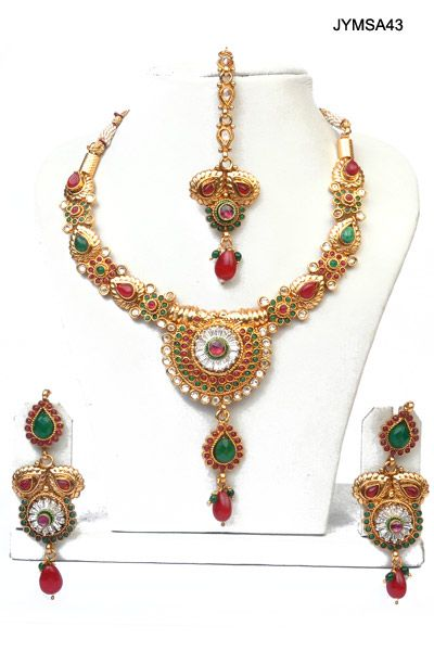 $55 Ethnic Charm polki Necklace Set from cbazaar