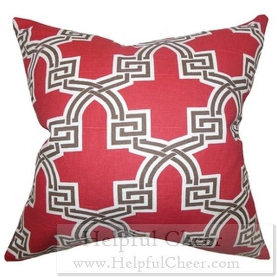 Letha Geometric Red Feather Filled 40inch Throw Pillow Shop Black Delectable Black Friday Decorative Pillows