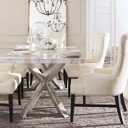 Petra 86 Rectangle Century Marble Dining Table In White Dining