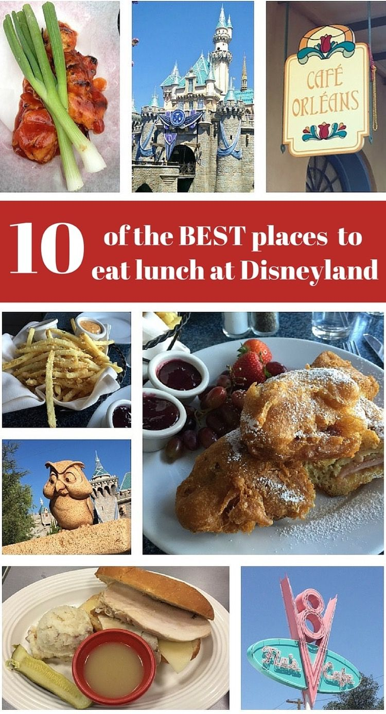10 of the BEST Places to Eat Lunch at Disneyland - Thrifty and Thriving #disneylandfood