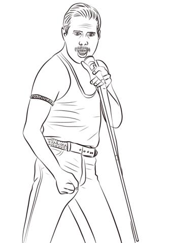Freddie Mercury Dibujo Para Colorear Freddie Mercury Mercury Freddy Mercury
