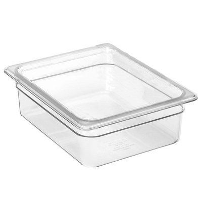 Camwear Food Pan, Plastic, 1/2 Size, 4'' Deep, Polycarbonate, Clear, Nsf (6 Pieces/Unit) by Cambro. $45.47. Camwear Food Pan, plastic, 1/2 size, 4'' deep, polycarbonate, clear, NSF Features Brand: Camwear Manufacturer's Category: Food Pan, Plastic Size: 1/2 Size Color: Clear Manufacturer's Discount Category: (70) Food Pans, Boxes & Lids Plastic: Polycarbonate Depth: 4''''