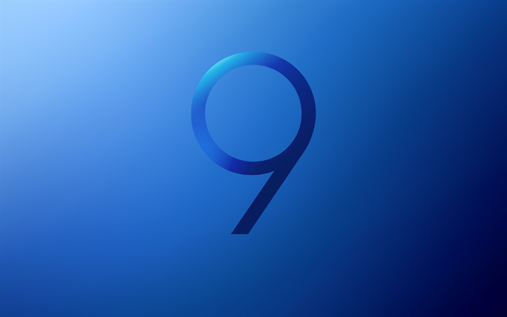 Download Wallpapers Samsung Galaxy S9 Digit 9 Stock Blue