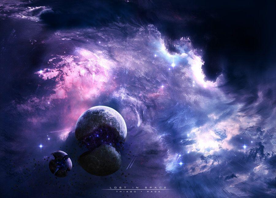 Lost In Space Thiagochackal Space Art Wallpaper Wallpaper