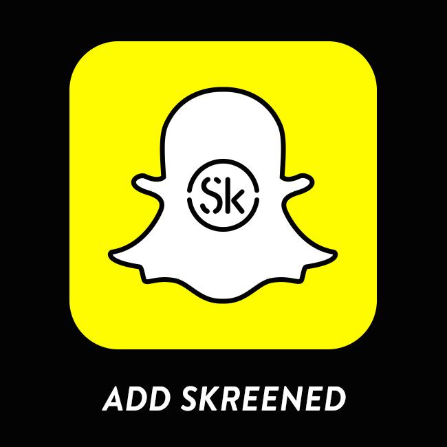 Add Skreened on Snapchat! Secret discounts and #behindtheskreened updates!!!! :D #snapchat #letsbefriends