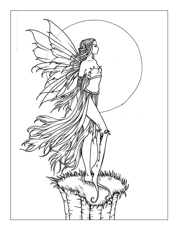 free fairy coloring page by molly harrison wwwmollyharrisonartcom fearless