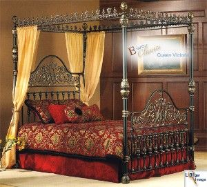 Queen Victoria Iron Canopy Bed