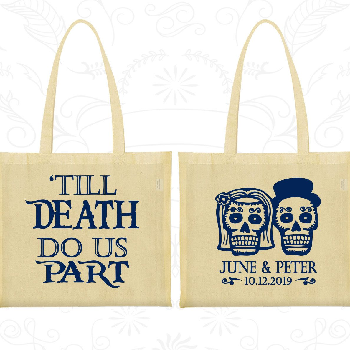 Till Death Do Us Part Bags, Sugar Skull Bags, Cheap Gift Bags, Day ...