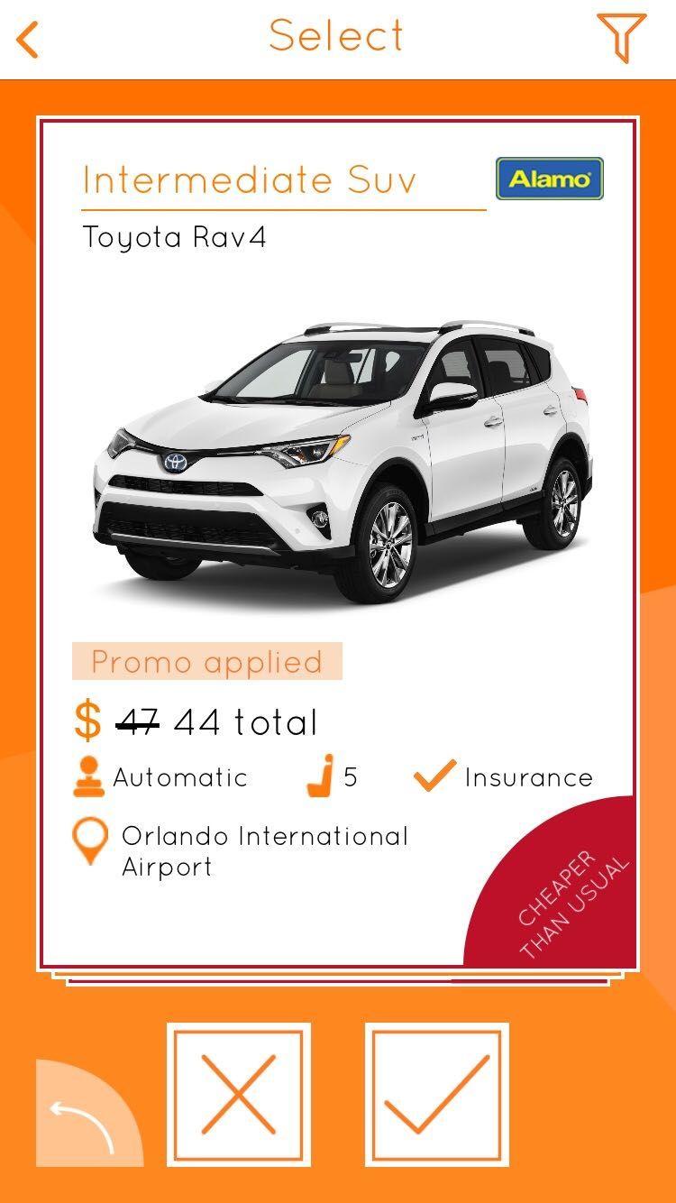 Rent a Car in Orlando Car rental app, Car rental deals