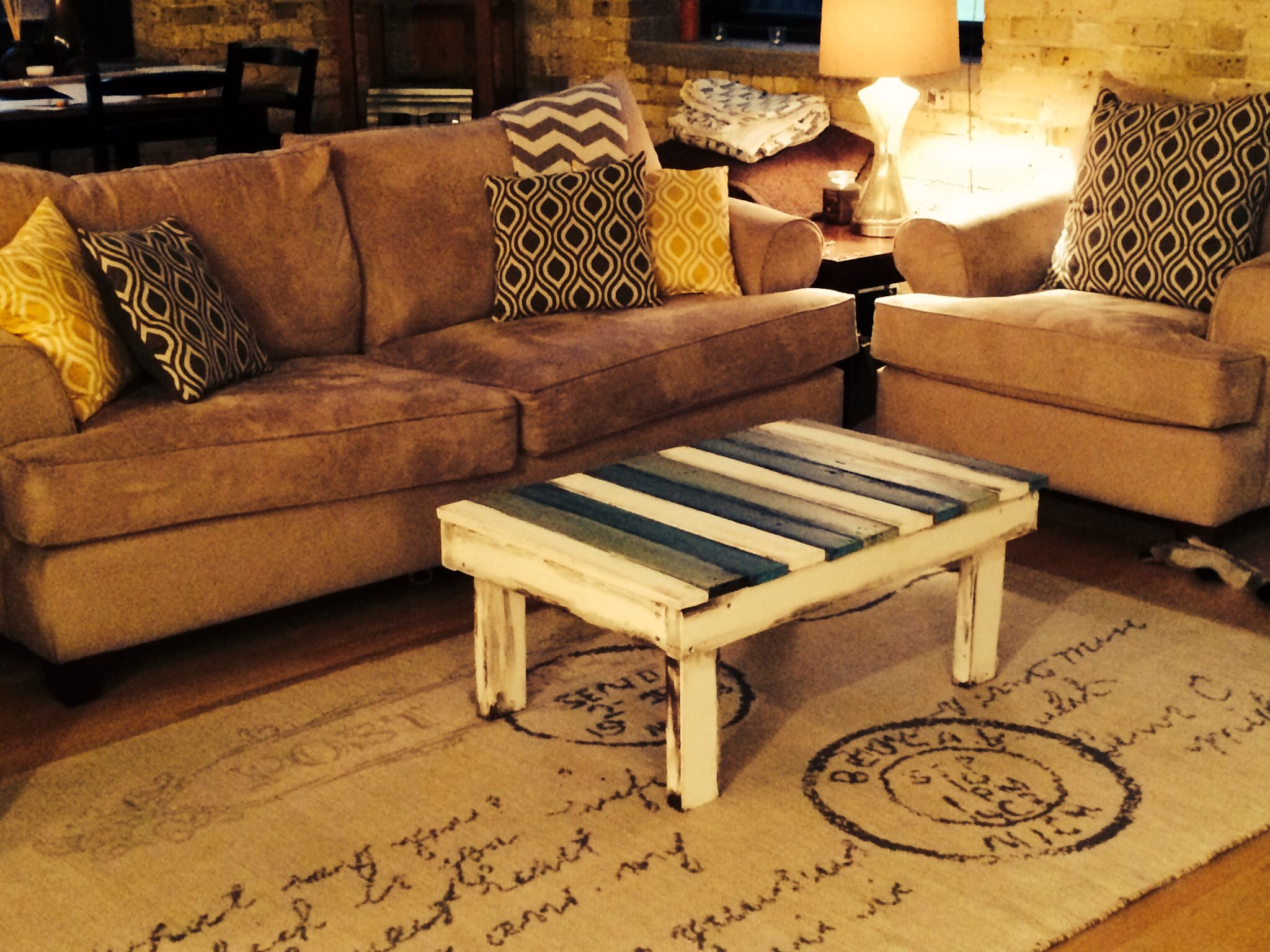 Upcycled custom coffee table made by Craig Struble ...