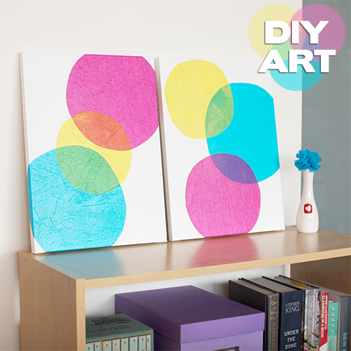 DIY Wall Art -How to ~ idea for Color Dance project try with different colors