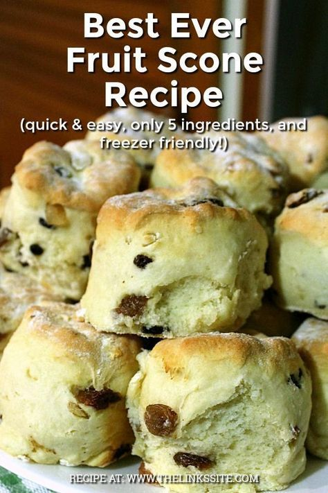 This is my favourite fruit scone recipe; I make them all the time and keep a batch in the freezer for a quick breakfast on the go!